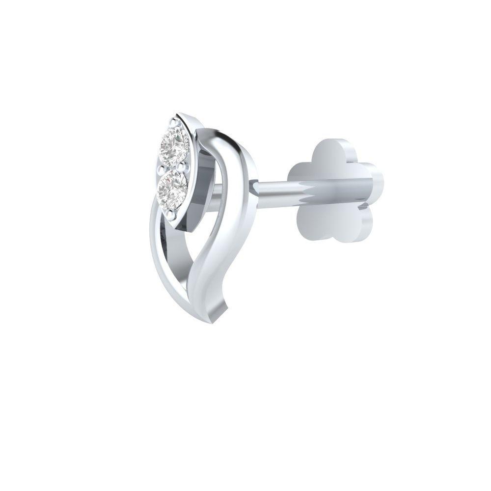 100/% Real Diamond Flower Nose Lip Labret Screw Piercing Pin Stud 14k Gold Gift