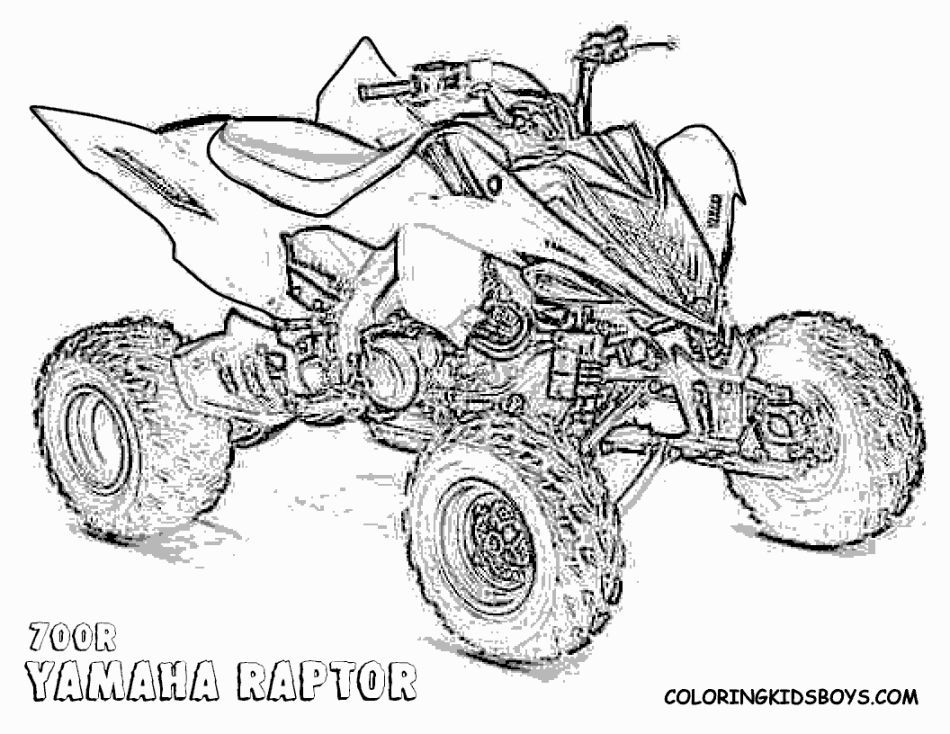 4 wheeler coloring pages | monster truck coloring pages