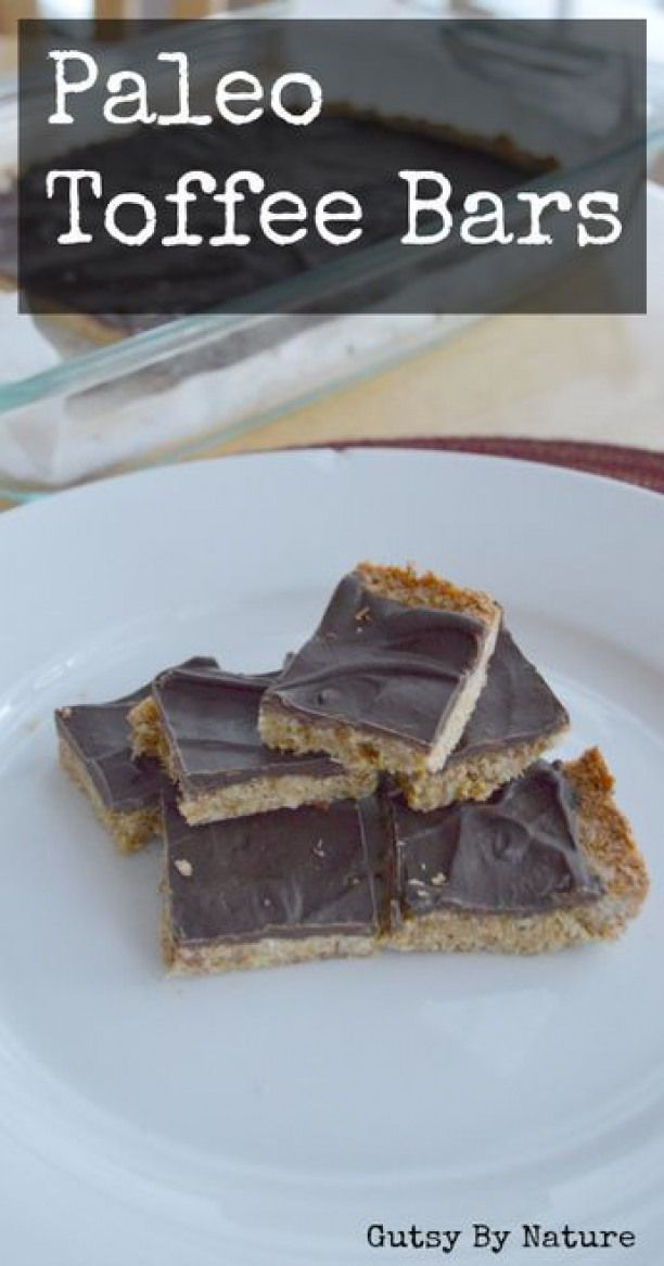 Paleo Toffee Bars Grain Free Dairy Free Nut Free  Gutsy By Nature