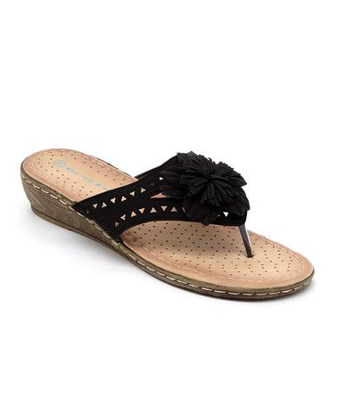 This Black Bloom Sandal is perfect! #zulilyfinds