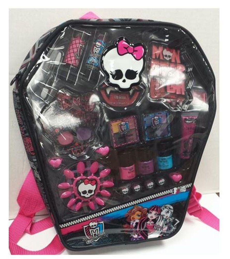 Monster High Cosmetic Make Up Kit Spooky Backpack Bag Lip