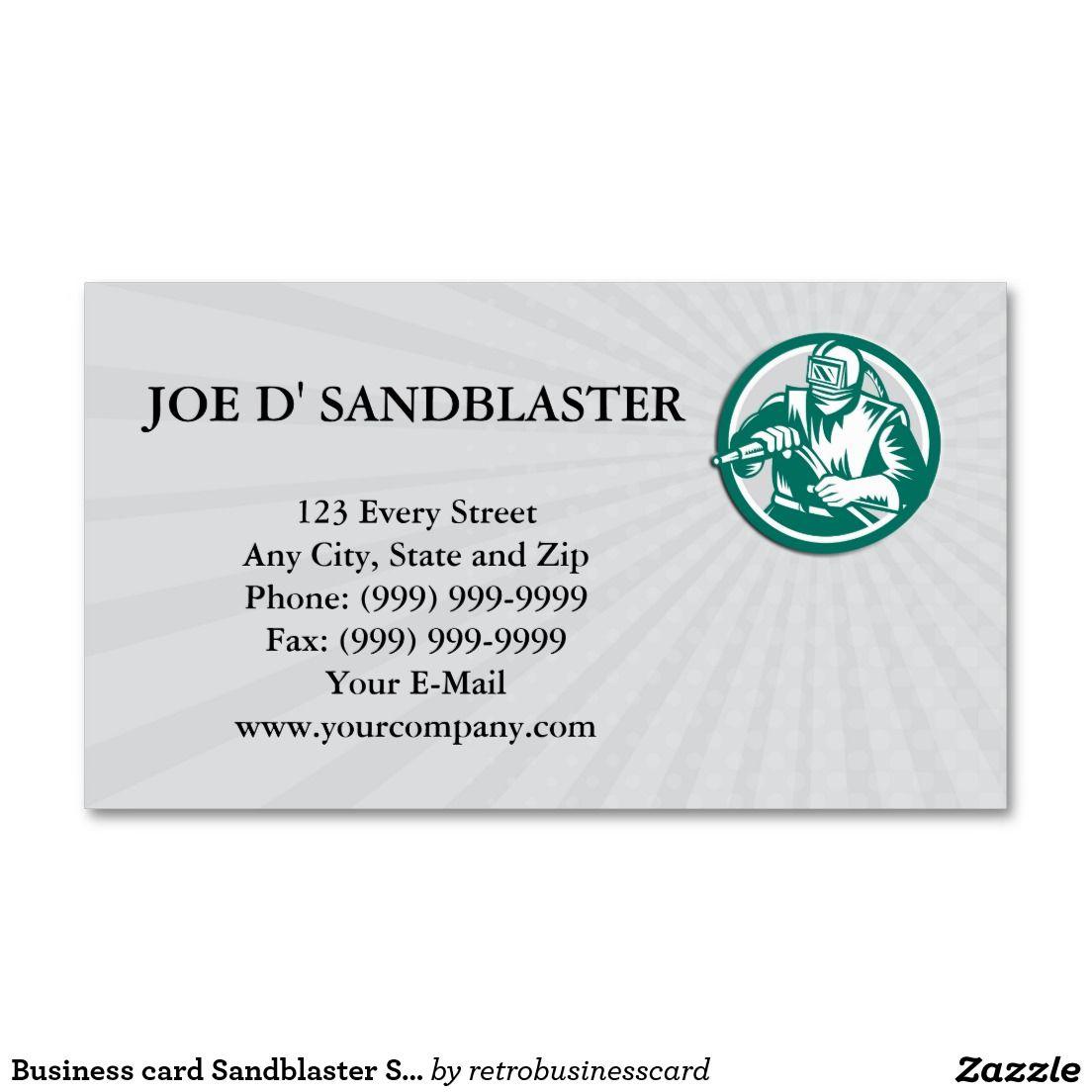 Business card sandblaster sandblasting hose circle for Circle business card template