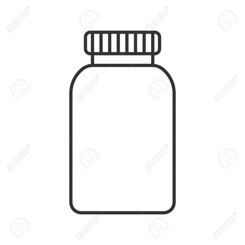 Pill Bottle Outline Google Search Pill Bottles Pill Outline
