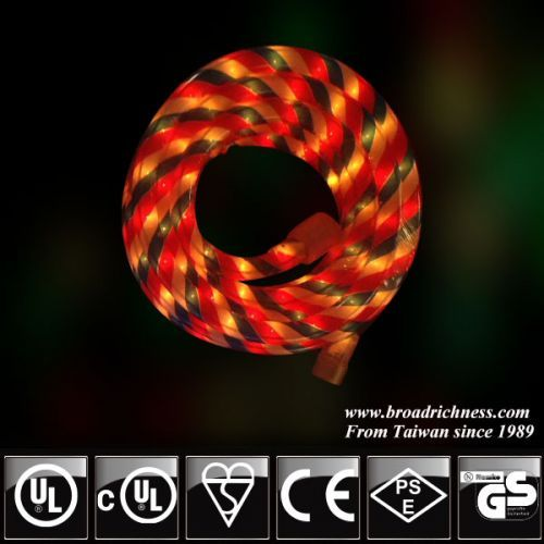 18ft Rwb Led Rope Light 2 Wire 1 2 3 8 120 Volt Ul Listed