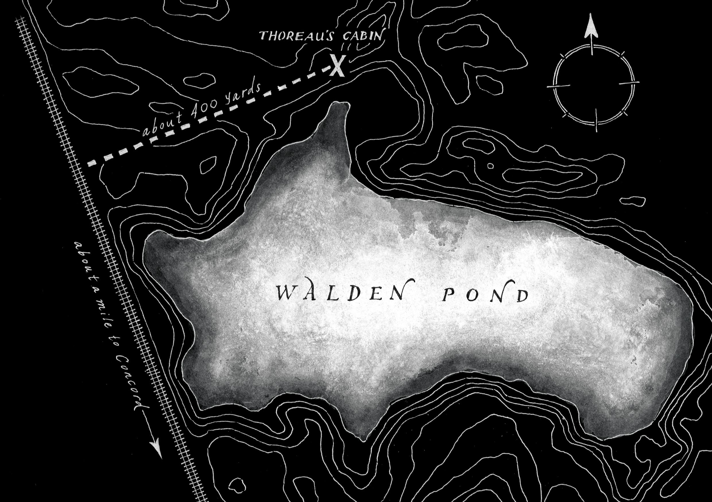 a map of walden pond concord massachusetts pond and massachusetts a map of walden pond