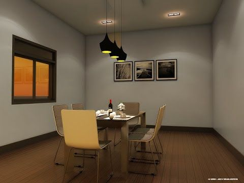Night interior scene with Vray and Sketchup: IES light