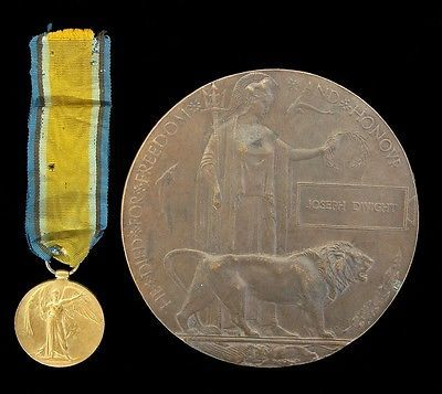 Ww1 british death #plaque & #victory medal #gs.60575.pte.j.dwight.r.fus,  View more on the LINK: http://www.zeppy.io/product/gb/2/131872654511/
