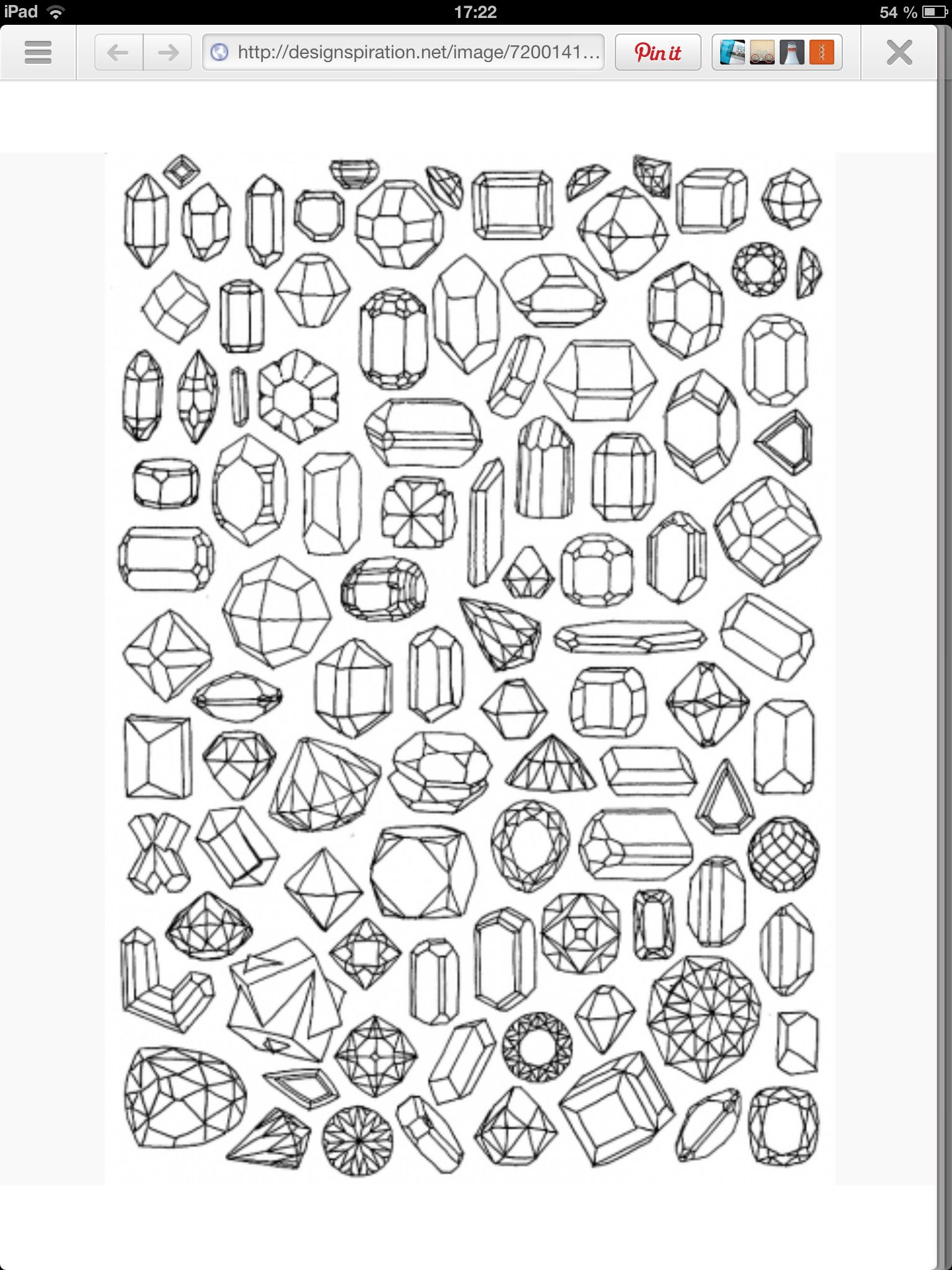 Diamond Coloring Pages Drawings Sketch Book