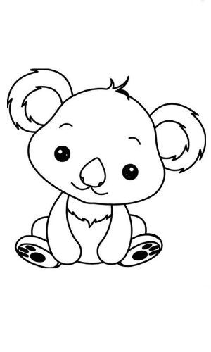 40 Animalitos Dibujos Para Colorear Cute Coloring Pages Cute Drawings Animal Embroidery