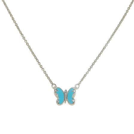 Cachet Swarovski Crystal Turquoise Enamel Butterfly Pendant, $40 !!