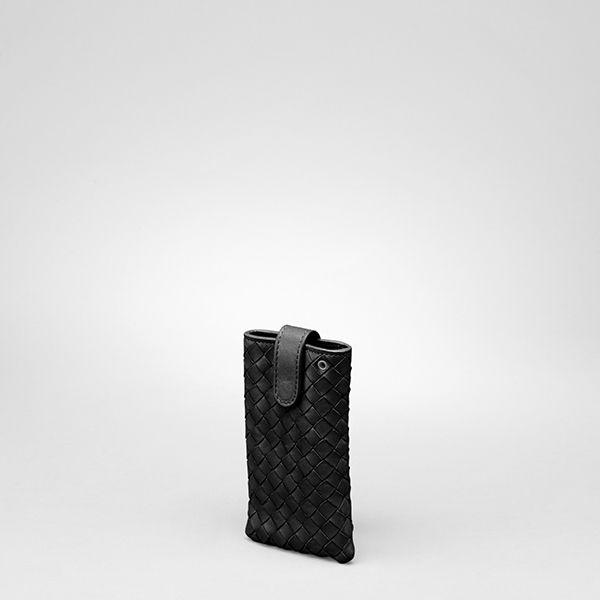 Bottega Veneta Nero Intrecciato Nappa Iphone Case