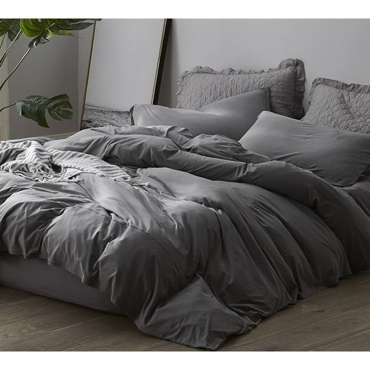 Byb Bare Bottom Sheets Winter Warmth Gray King 4