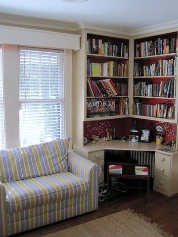 Another Corner Desk Idea Bookshelves For Small Es Open Shelves