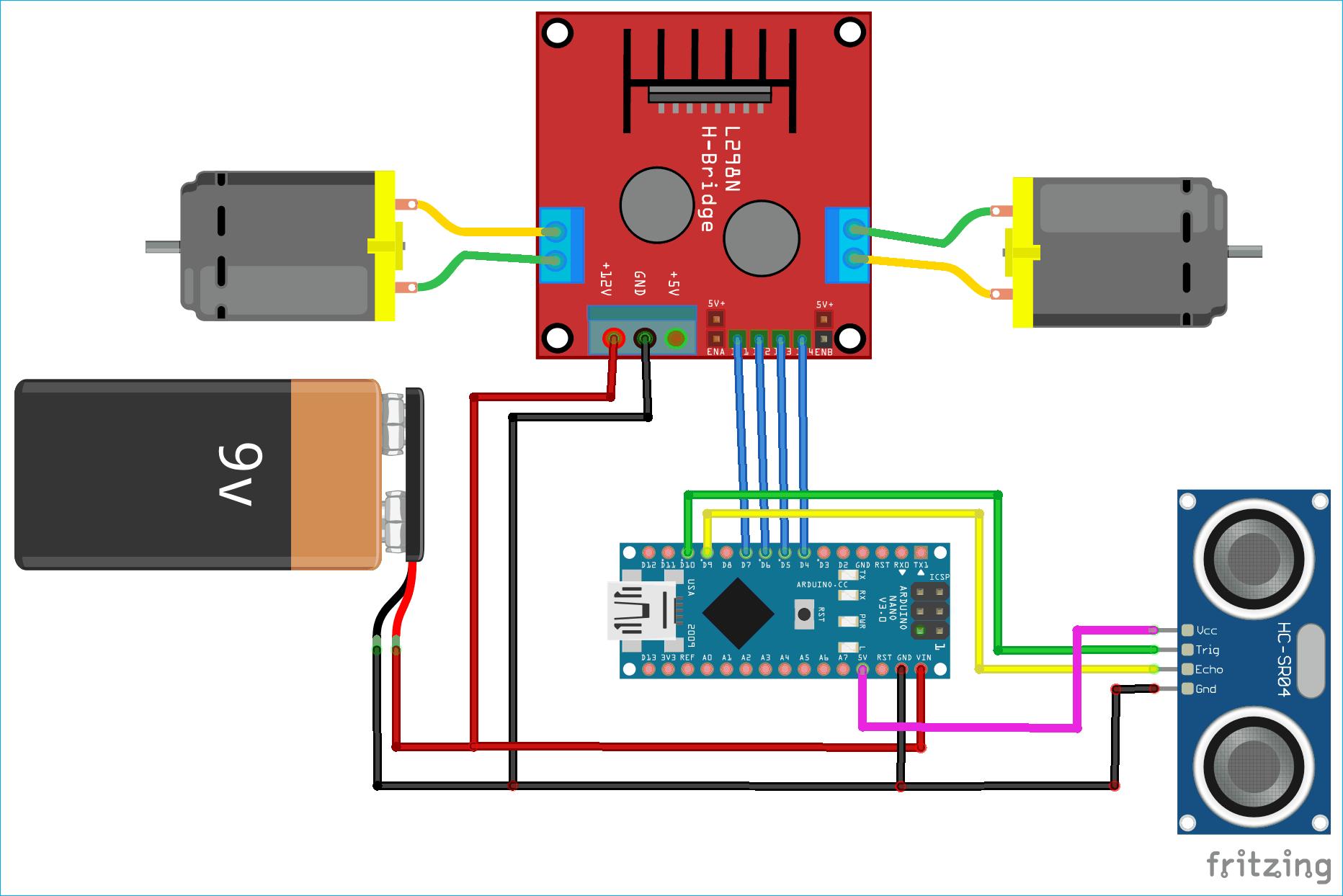 Obstacle Avoiding Robot Using Arduino And Ultrasonic Sensor Arduino Circuit Diagram Pic Microcontroller