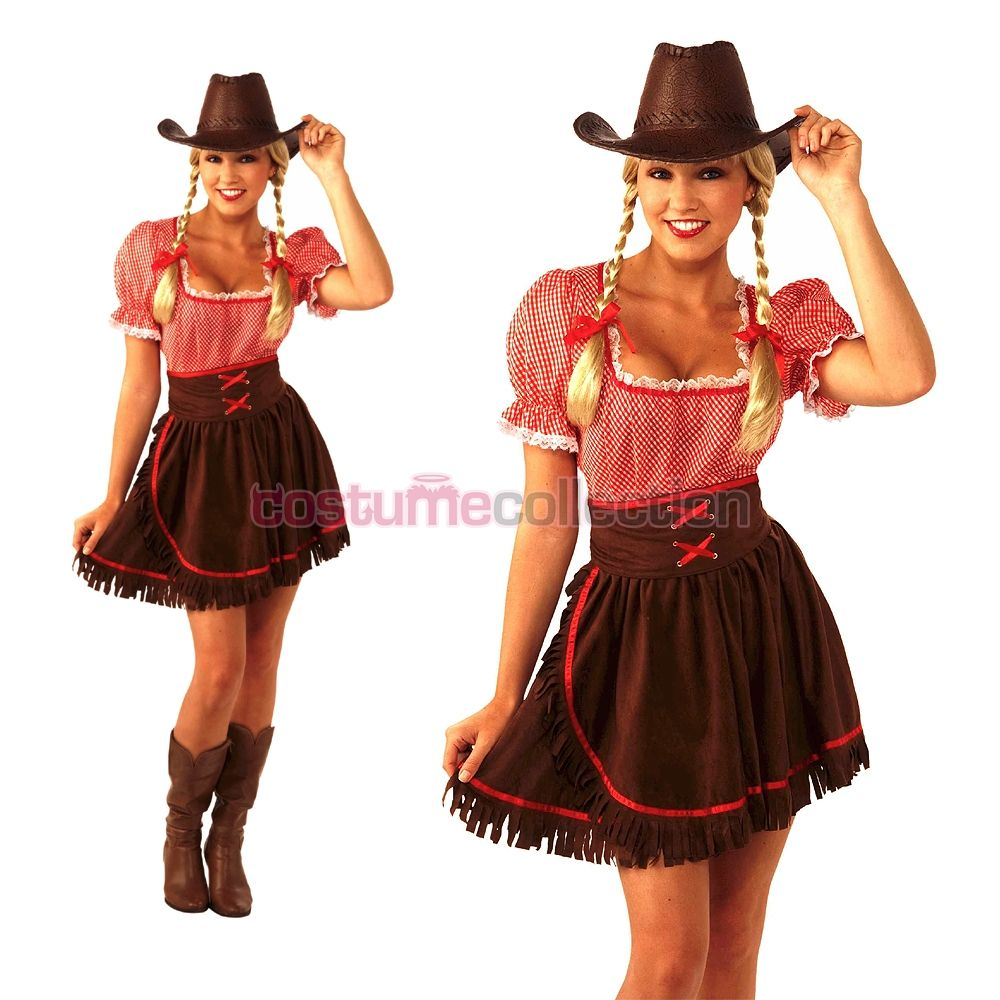 Home ladies costumes rodeo gal costume - Cowgirl Hairstyles Back Home Western Dress Cowgirl Costume