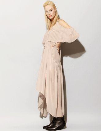 Taupe chiffon maxi dress Pixie Market, Fashion-Super-Market