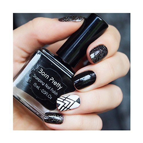 Born Pretty 15ml Nail Art Stamping Polish Black Nail Polish 3 >>> Click image for more details.