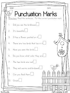 Free Printable Grade 4 Language Arts Worksheets