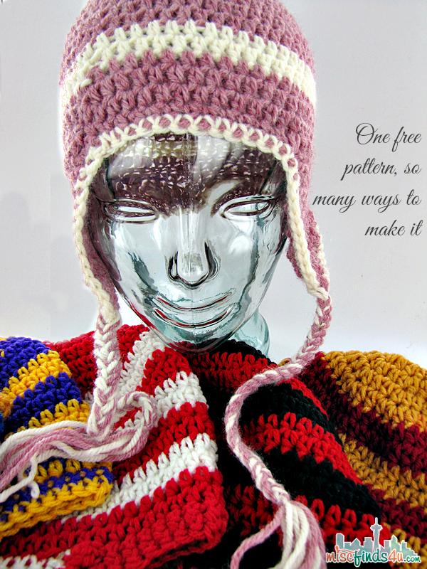 Free Crochet Hat Patterns Earflap Beanie Pattern Free Crochet Hat