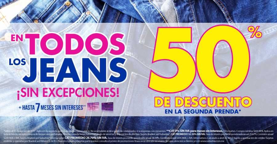En Las Tiendas Suburbia Encontraran La Promocion De 50 De Descuento En La Segunda Prenda De Jeans Todos Los Modelos Articulos De Moda Jeans Ropa Y Accesorios