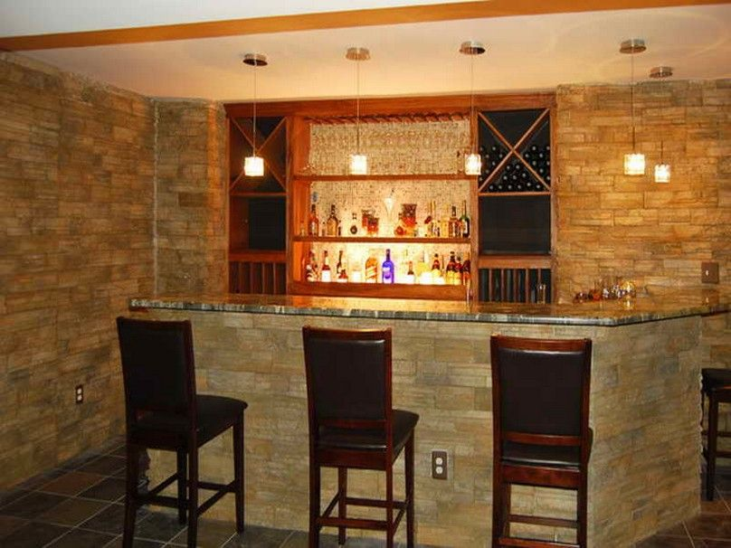 Modern home bar design home bar decorating ideas for modern home contemporary home bar - Wet bar basement ideas ...