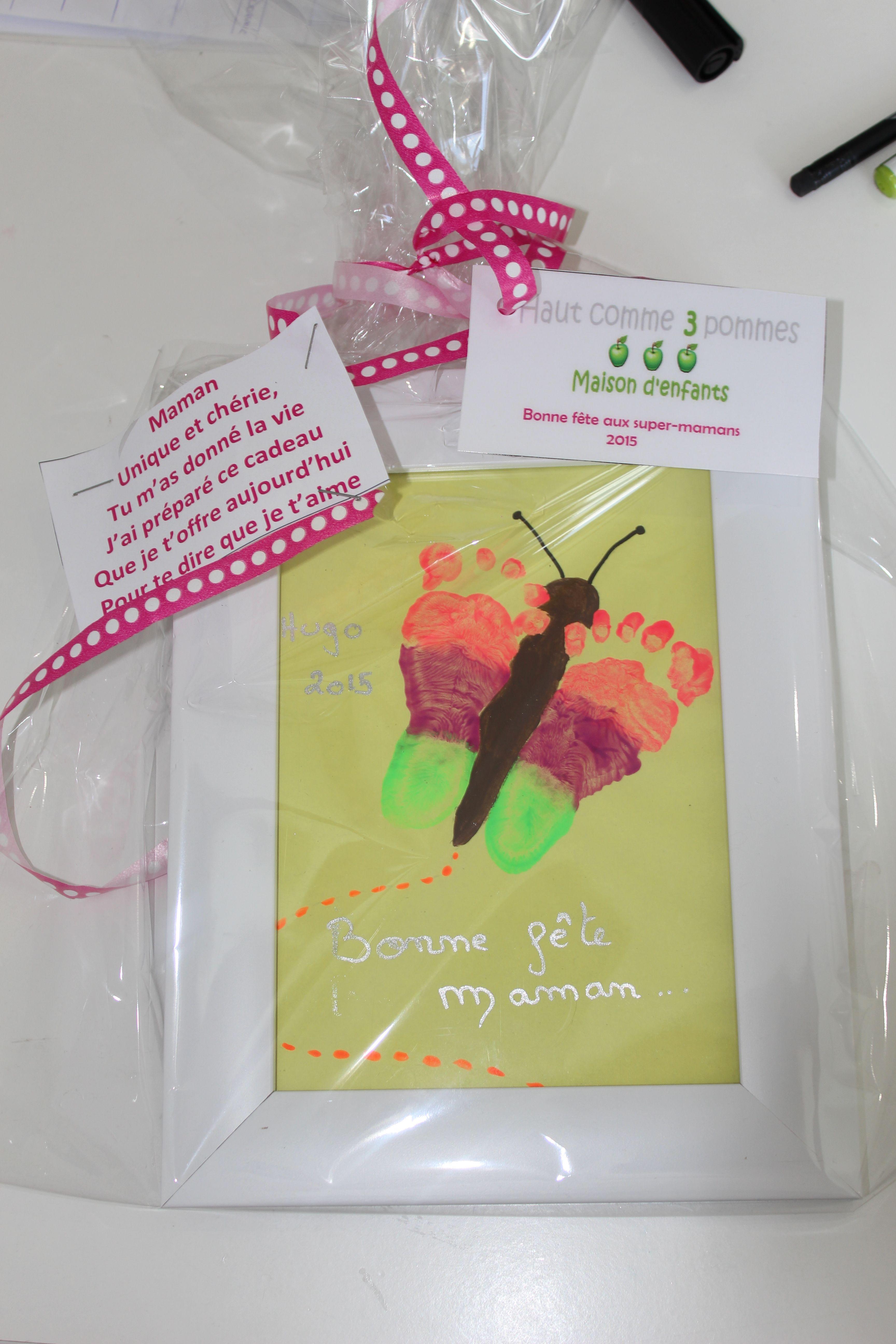 Bricolage Fête Des Mères Papillons Pieds Poeme