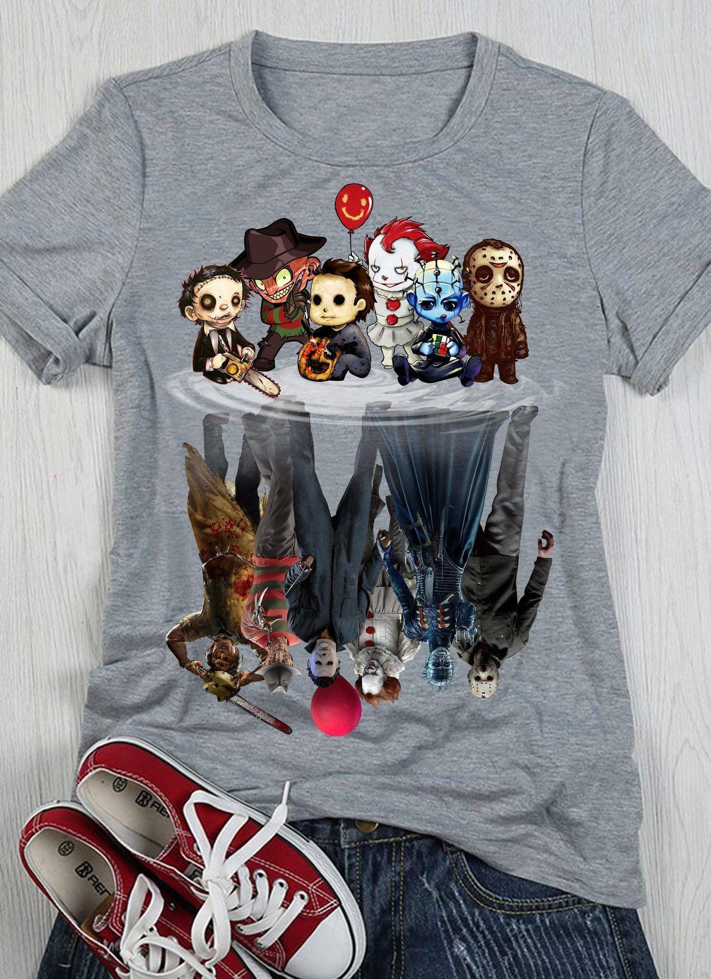Halloween Mugshots Mens T shirt S-XL Retro Fashion Illustration Horror