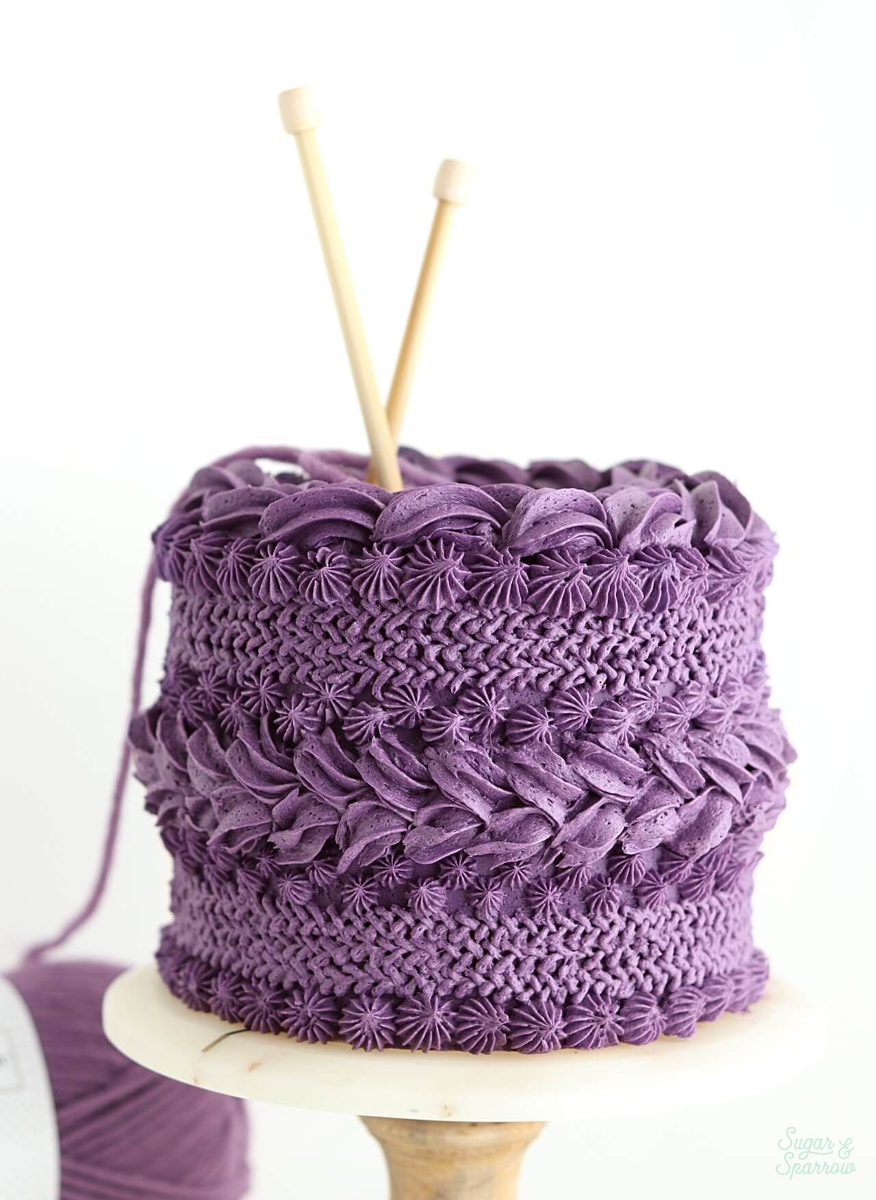 Buttercream Knitted Sweater Cake Tutorial | Buttercream ...