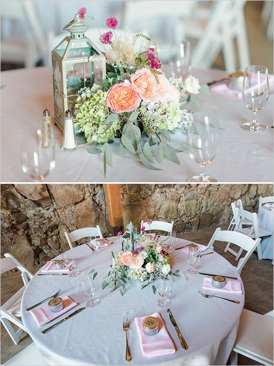 Rustic Pink Shabby Chic Wedding | Table Decor For Weddings ...