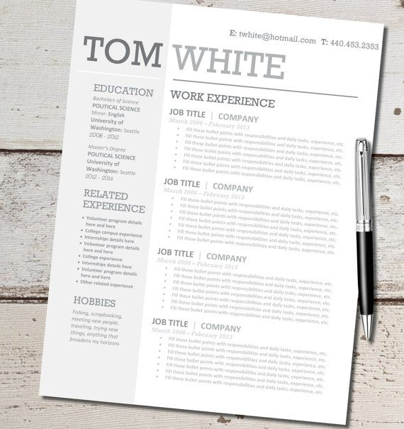 instant download - resume design template