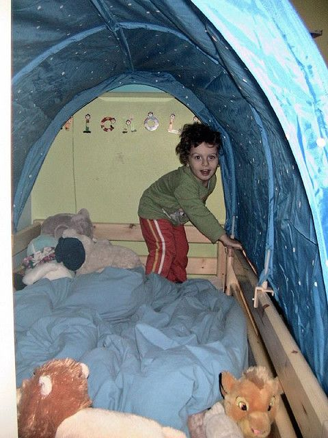 bed tent tunnels | Flexa bed + Ikea Kura tent tunnel - a photo on Flickriver  sc 1 st  Pinterest & bed tent tunnels | Flexa bed + Ikea Kura tent tunnel - a photo on ...