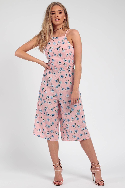 c32cdb81df2 Floral Crepe Cami Culotte Jumpsuit. Wholesale Clothing ...