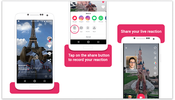 Tiktok Short Video Social App Adds Reaction Video Feature For Users Http Bit Ly 2cqznhy Tiktok Reactionvideos Musically Mobile Music Social App Reactions