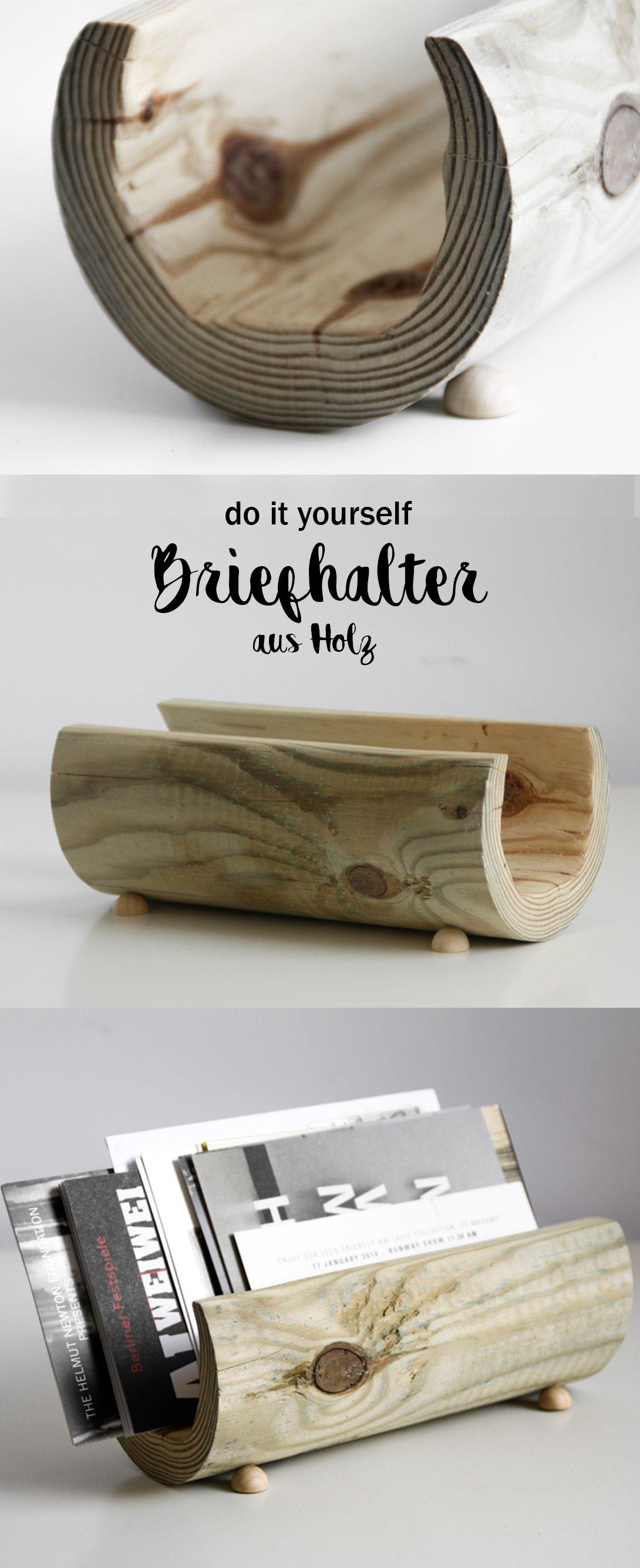 diy holz briefhalter basteln | bastelideen | pinterest | basteln