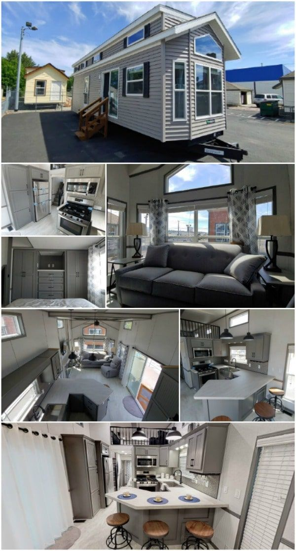 Cozy and Stylish Tiny House by Park Model Homes {Video House Tour} - Whenever Park Model Homes comes out with a new tiny house, it is always such a treat. This is a company which has really been pushing the envelope in terms of how much comfort and space can fit inside a tiny footprint.