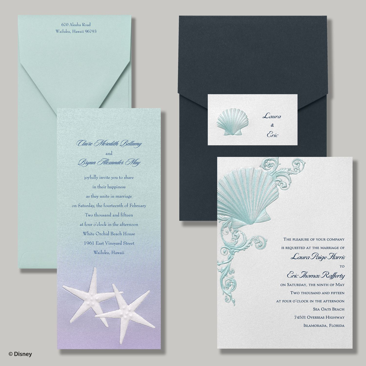under the sea ocean beach destination wedding With disney beach wedding invitations
