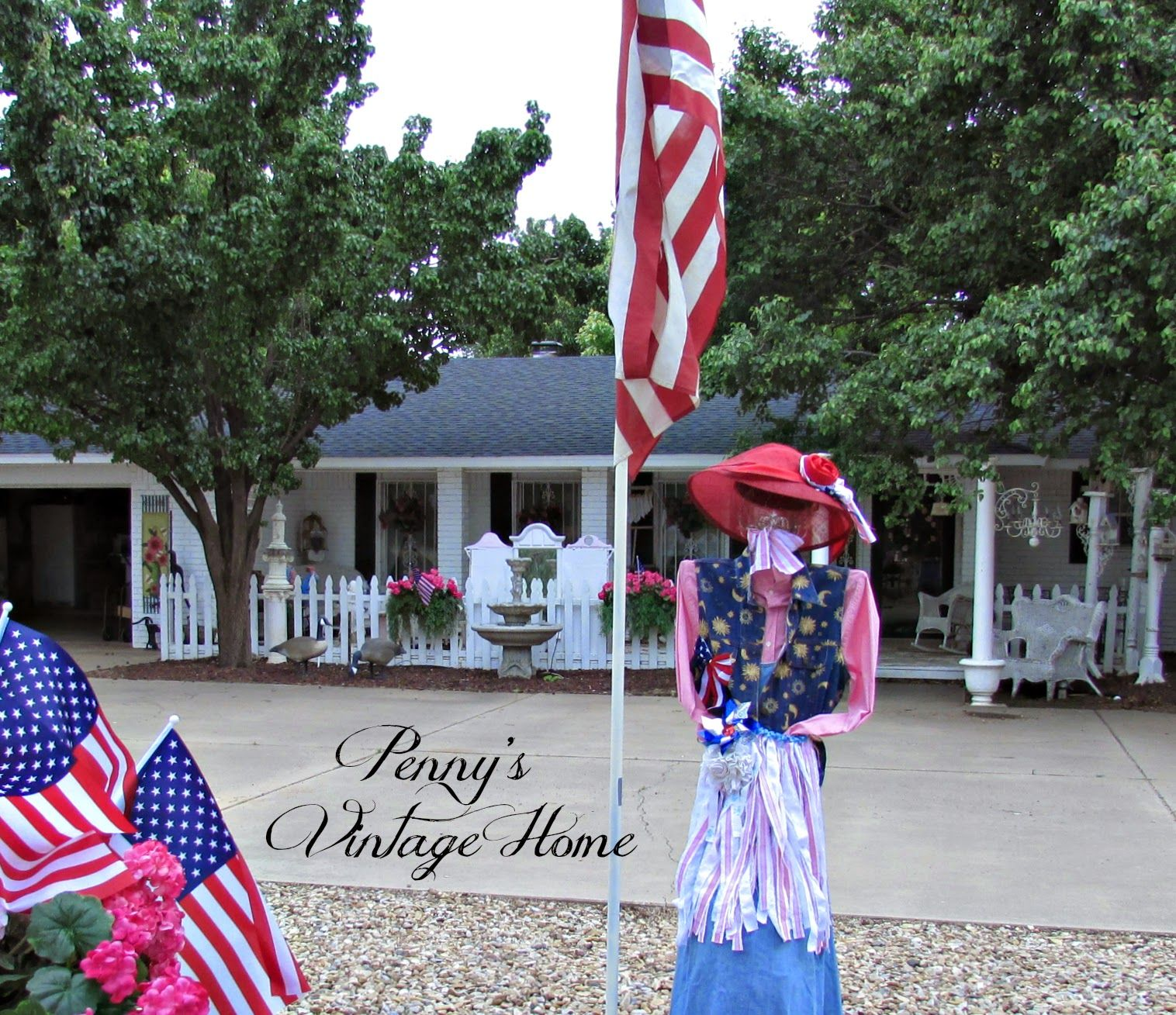 Penny's Vintage Home: Memorial Day Yard Decor