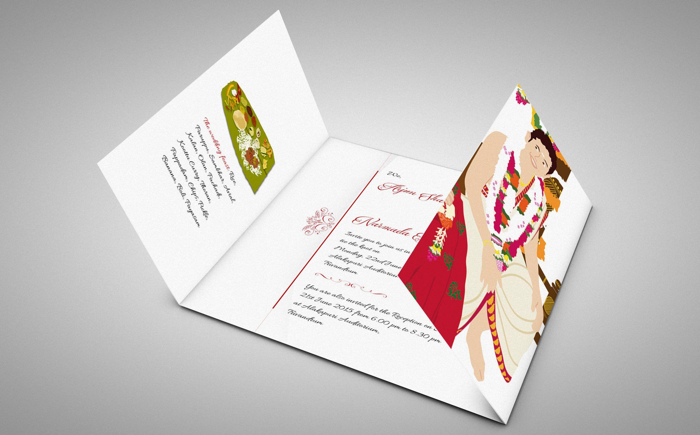 illustrated wedding invitations, unique wedding invitations, cool ...