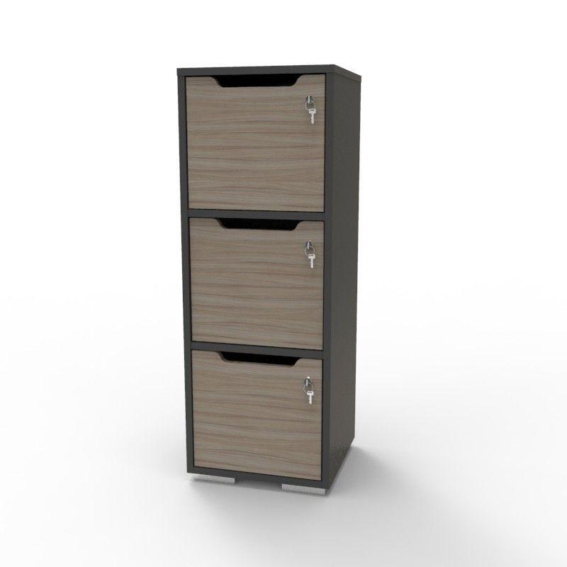 Casier Vestiaire En Bois Caseo3 3 Cases Graphite Driftwood Casier Vestiaire Casier Bois Casier