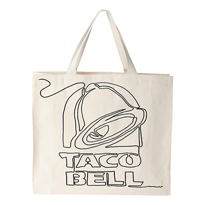 Taco Bell Live Mas Store Tote Taco Bell Logo Taco Bell
