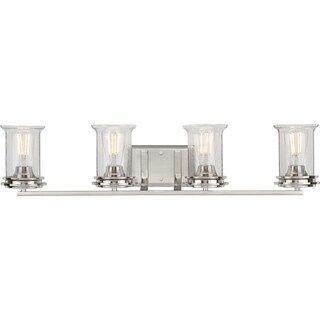 Photo of Winslett Collection Brushed Nickel Four-Light Bath (60 W – 4 Lights), Progress Lighting