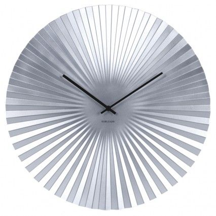 Karlsson Sensu Clock Large Silver Faceted Wall