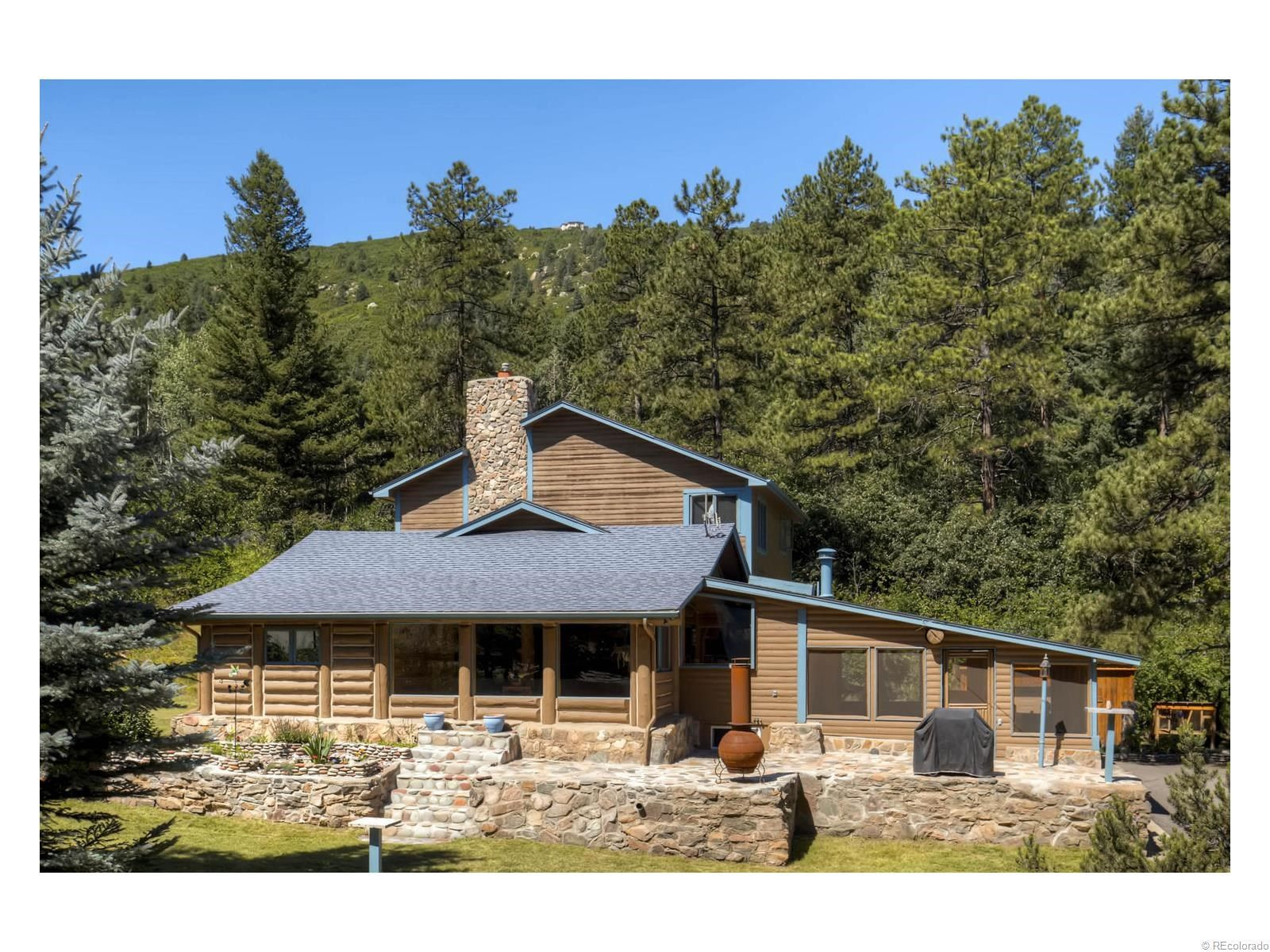 co mls dr featured roomfrontviewhouse homes htm for evergreen bell log sale conifer genesee morrison colorado properties cabins land meade