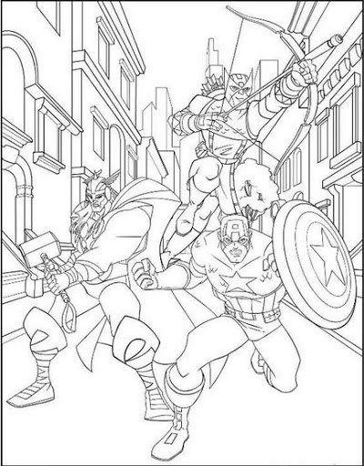 Avengers Malvorlage
