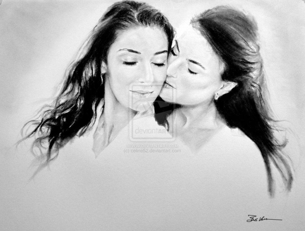 Peyton And Elena Artwork Traci Dinwiddie And Necar Zadegan In Nicole Conns Movie -2410