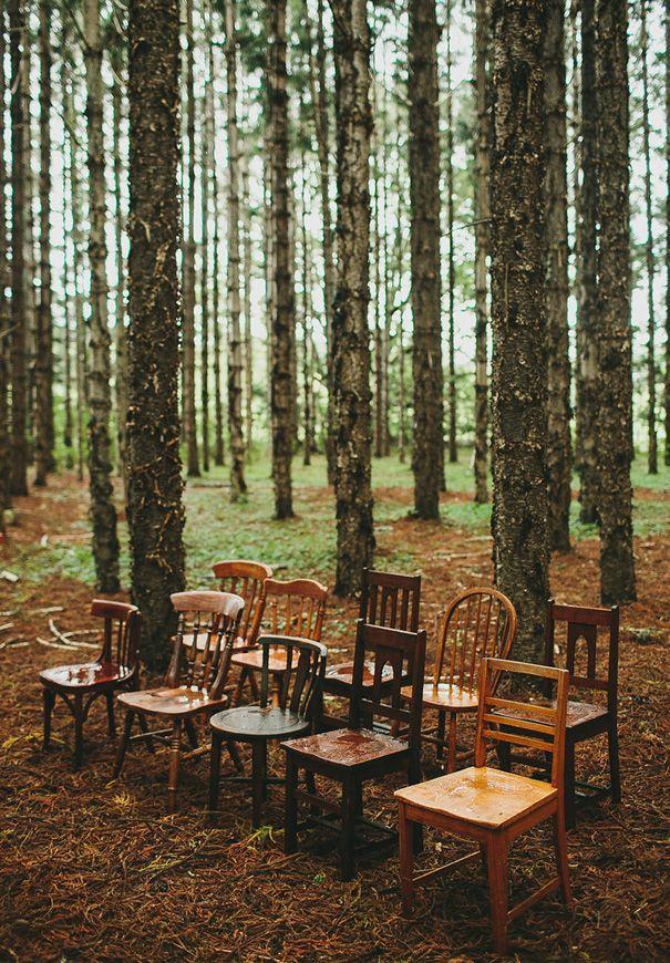 ... Chairs In A Woodland Setting Woodland Wedding Theme Woodland Wedding  Inspiration Woodland Wedding Ideas Forest Enchanted Woodland Wedding Decor  Woodland ...