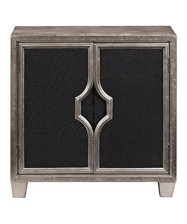 Another great find on #zulily! Silver Glam Two-Door Chest #zulilyfinds