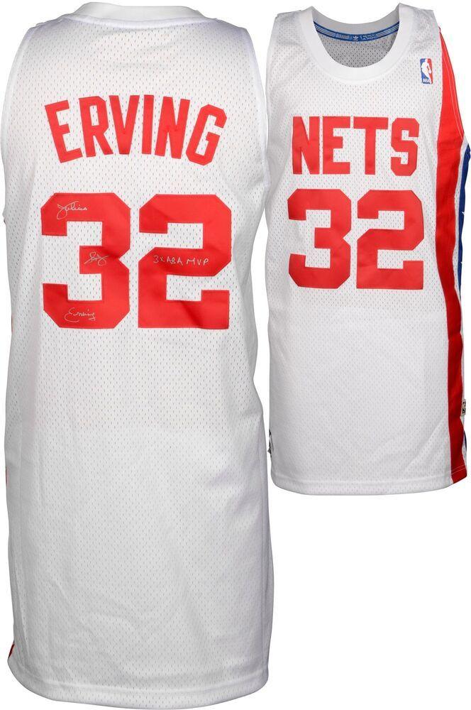 c9b64ae87 Julius Erving NY Nets Signed Adidas Swingman White Jersey with