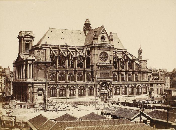 glise de saint eustache v 1855 photographe douard baldus history paris photos paris. Black Bedroom Furniture Sets. Home Design Ideas