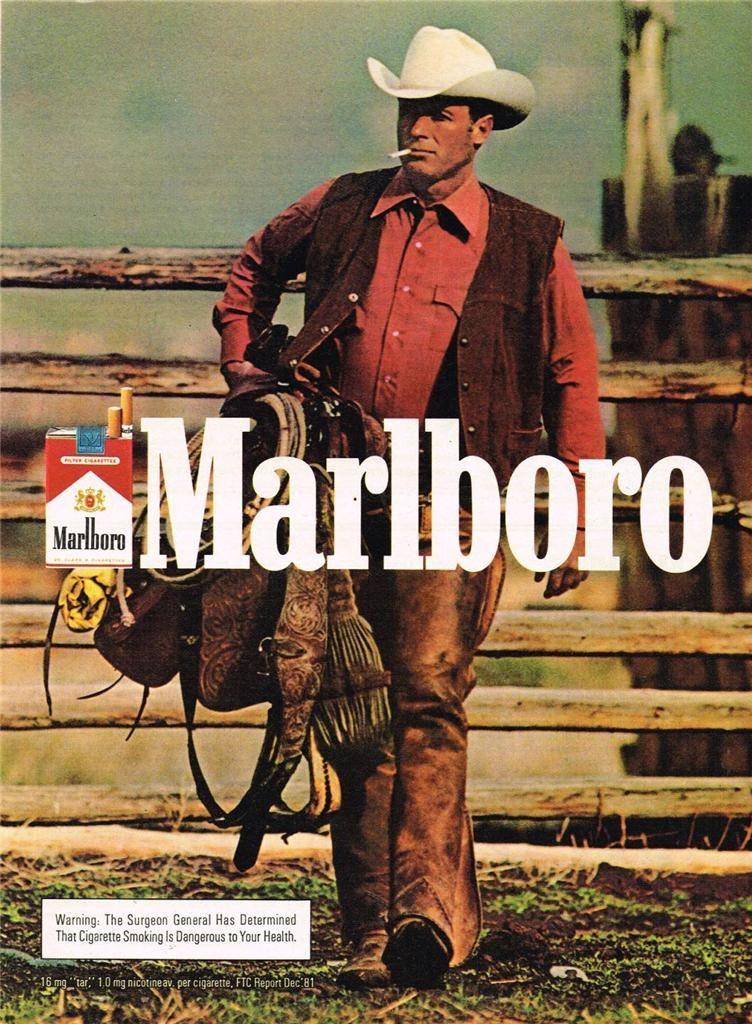 1982 Marlboro Cowboy Ad Cool Advertising Marlboro